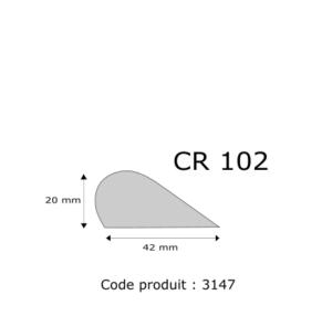 Profil mousse agglomérée CR102