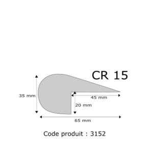 Profil mousse agglomérée CR15