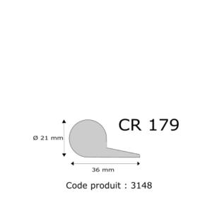 Profil mousse agglomérée CR179