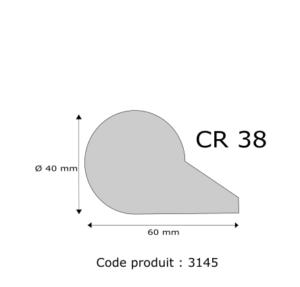 Profil mousse agglomérée CR38