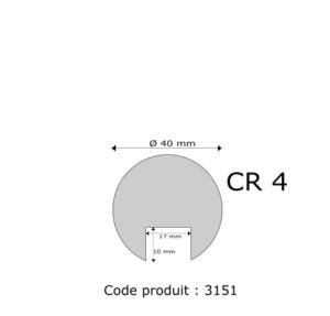 Profil mousse agglomérée CR4