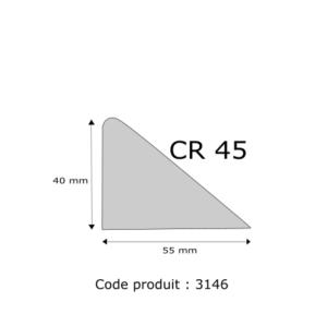Profil mousse agglomérée CR45