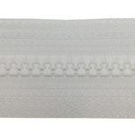 zip fermeture injectée continue blanc