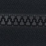 zip fermeture injectée continue noir