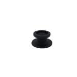 Poulie ronde pour sandow 6-8mm noire