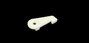 2150 slim support plafond plastique blanc